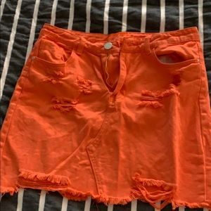 Dresses & Skirts - orange denim skirt